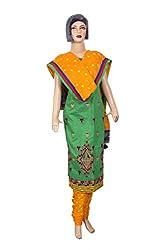 Women's Cotton Unstitched Salwar Suit Dress Material (Dress_657_FreeSize_Multicolor)