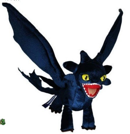 How to Train Your Dragon Deluxe Night Fury Toothless Poseable Figure Plush Doll - 1