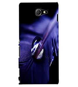 ColourCraft Feather and Drop Design Back Case Cover for SONY XPERIA M2 DUAL D2302