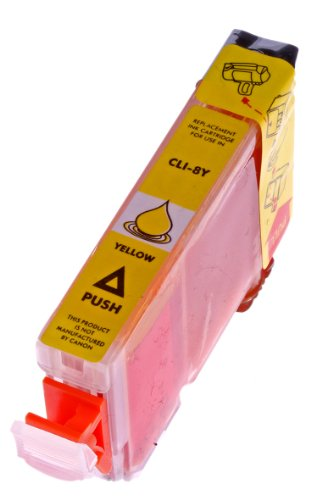 Druckerpatrone für Canon CLI 8 , CLI-8 , CLI8 mit Chip Canon Pixma IP4500 canon IP5200 canon IP5200R canon IP5300 (Gelb/Yellow)