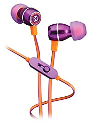 iHome iB18UE Noise Isolating Metal Earphones with In-line Mic, Remote and Pouch Iris