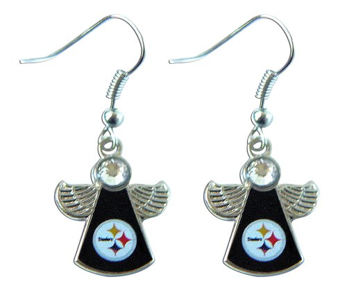 Pittsburgh Steelers - NFL Winged Angel Dangle Earrings from Rick