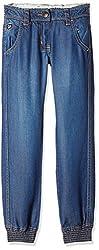 US Polo Girls' Jeans (UGJN5011_Light Blue_S)