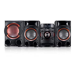 LG CM8430 1200W Bluetooth Mini Shelf System, Dual USB, Smart Audio DJ, X Metal Bass Speaker