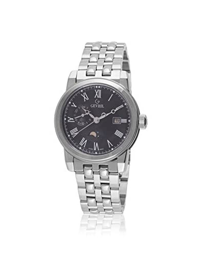 Gevril Men's 2527 Cortland Display Swiss Quartz Silver Watch
