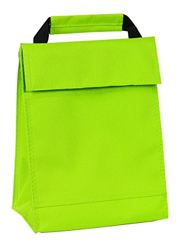 Bags for LessTM Insulated Non Woven Lunch Bag, Lime Green - 1