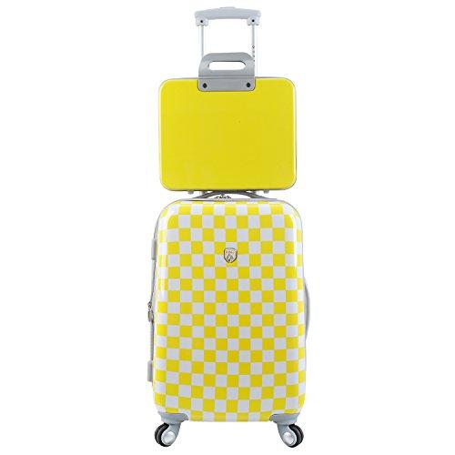 Travelers Club Paris Fashion 2PC Spinner Expandable Hardside Luggage Set- Yellow image