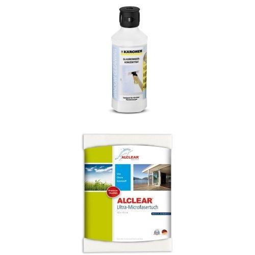 karcher-rm-500-limpiador-de-vidrio-500-ml-alclear-950001-toallita-de-microfibra-para-limpiar-ventana