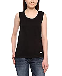 Adro Women's Cotton Tank Top (Black)