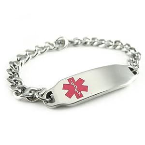 Alert Stainless Steel Medical ID Bracelet Engraved from MakeMeThis.com