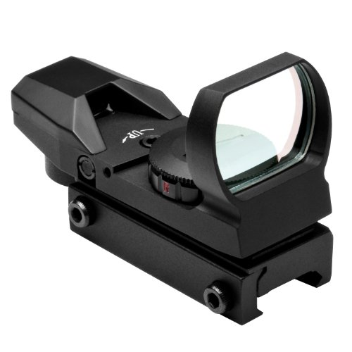 Ncstar Red And Green Dot Reflex Sight/4 Different Reticles/Weaver Base (D4Rgb), Black