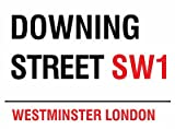 MIN90548 LONDON STREET SIGN - DOWNING STREET SW1 METAL ADVERTISING WALL SIGNS