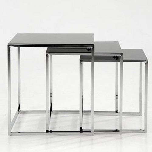 wohnzimmer ideen testen 3 satz beistelltisch neptun schwarz glas eckig. Black Bedroom Furniture Sets. Home Design Ideas