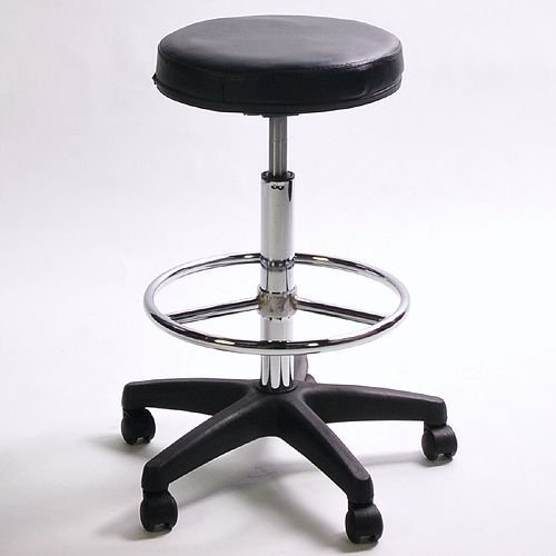 ePhoto C4-ANCT-FYSR MS1002 Pneumatic Adjustable Padded Posing Stool with Foot Rest (Black)