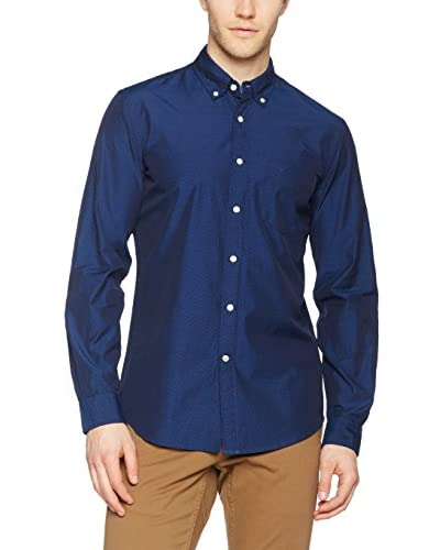 Dockers Camisa Hombre Essential Dobby Basil Medieval Blue Embr Azul