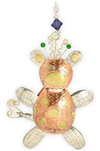 Pilgrim Imports Jiffy the Giraffe Metal Fair Trade Ornament