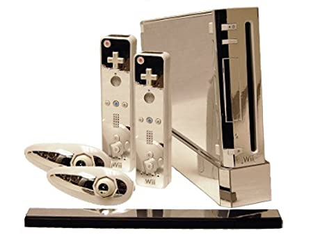 Nintendo Wii Skin - NEW - SILVER CHROME MIRROR system skins faceplate decal mod
