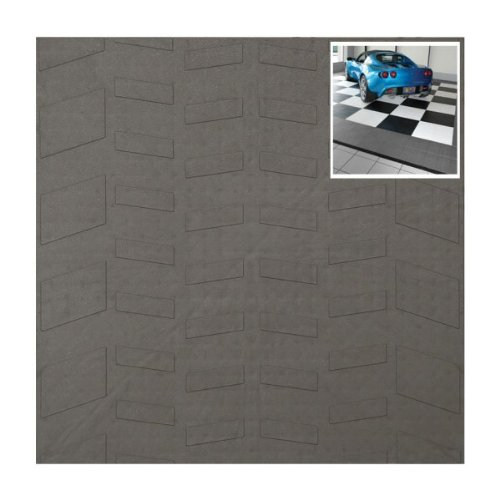 "Set of 40 Tire-Tread Pattern Style Tiles (Gray) (0.5""H x 12""W x 12""D)"