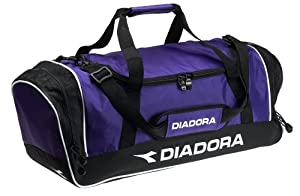 Diadora Unisex Medium Team Zipper Duffle Bag PURPLE O/S