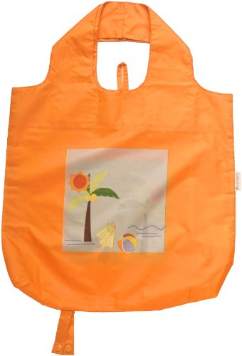 b.b.begonia Fun in the Sun Beach Reusable Shopping Bag, Orange