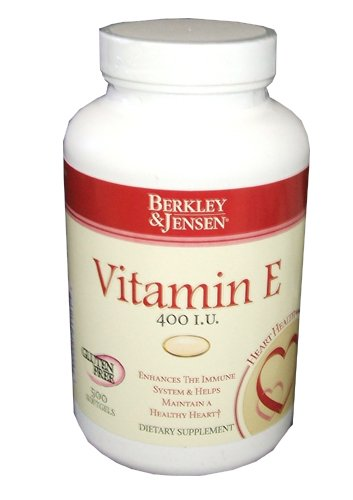 Berkley And Jensen Vitamin E 400 I.U. 500 Softgels Per Bottle