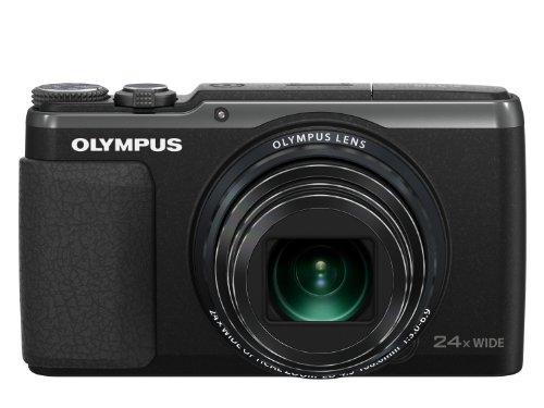 OLYMPUS デジタルカメラ STYLUS SH-60 3軸フォト手ぶれ補正&ハイブリッド5軸ムービー手ぶれ補正 光学24倍&超解像48倍ズーム ブラック SH-60 BLK