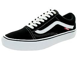 Vans Men\'s Old Skool Pro Black/White/Red Skate Shoe 13 Men US