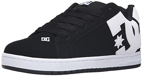 DC Men's Court Graffik Skateboarding Shoe, Black, 10 M US