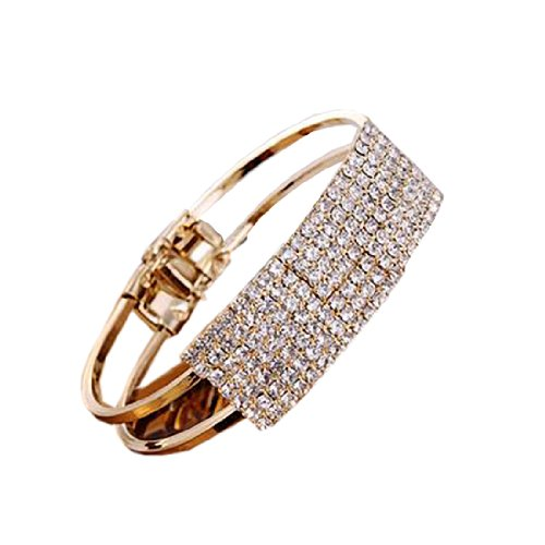 Rhinestone Stunning Bangle Cuff Charm Bracelet Fashion Wedding Party Jewellery