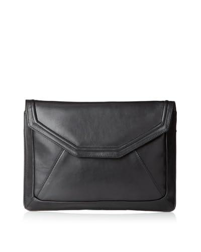 W118 by Walter Baker Women's Colorblock Envelope Clutch  - Black/Black