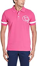 Hangten Men's Cotton Polo Shirt (8903502071030_MN53-S01_Small_Pink)