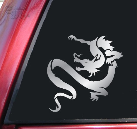 Chinese Dragon Vinyl Decal Sticker - Shiny Chrome