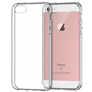 iPhone SE Funda, JETech Slim Fit iPhone 5 5s SE Funda Carcasa Case Bumper con Absorción de Impactos y Anti-Arañazos Espalda Case Cover para Apple iPhone 5/5s/SE (HD Clara)