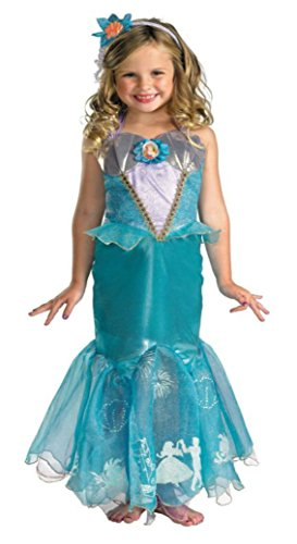 Girls Ariel Prestige Kids Child Fancy Dress Party Halloween Costume
