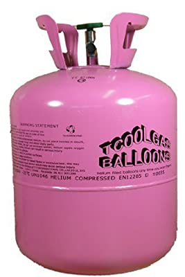 "2x Disposable Helium Tank Canister to fill 50 x 9"" balloons"