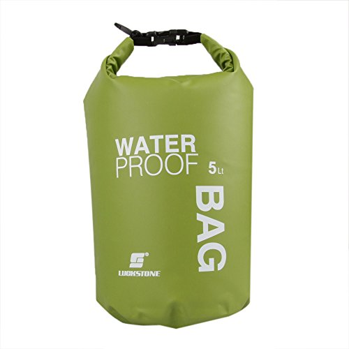 Anself 5L Ultimate Dry Sack Awesome Ultralight Waterproof Dry Bag For Adventure, Great For Kayaking, Swimming & Outdoor Traveling