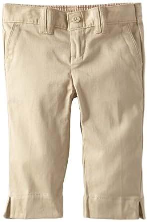 Dickies Little Girls' Uniform Stretch Flat Front Capri, Desert Sand, 6X