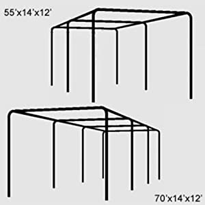 Buy Cimarron 70' x 14' x 12' Complete 2' Stand-Alone Frame (for use with Baseball Softball... by Cimarron now!