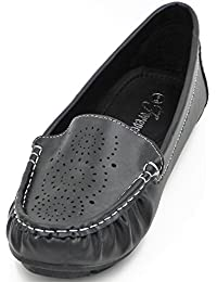 Women S Loafer Flats Running Out-door Boat Driving Walking Slip On Stiched Moccasins Round Toe Ballet Dress Shoes