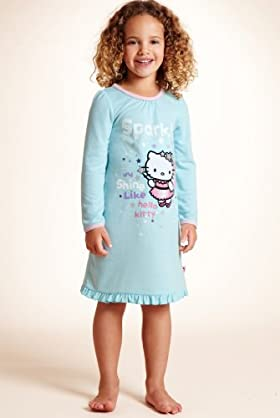 Younger Girls' Hello Kitty Frill Hem Nightdress