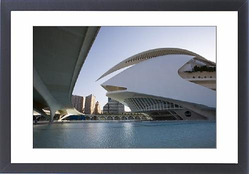 Framed Print Of View Of Palau De Les Arts From Under Ponte Monteolivete