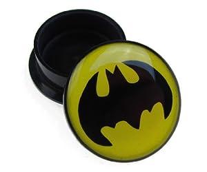 Jewellery of Lords 12mm Single Plastic Batman Logo Bat Man Ear Flesh Tunnel Plug Hole Stretcher Screw