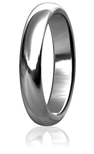 Plain Mens or Ladies Classic Domed Wedding Band, 5mm wide, 2mm thick, comfort fit in Sterling Silver - size 3.25