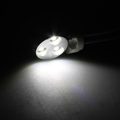 Ledwholesalers Side Pin G4 3-Smd3535 Led Light Bulb10-30V Dc Metal Bezel (White 6000K) 1122Wh