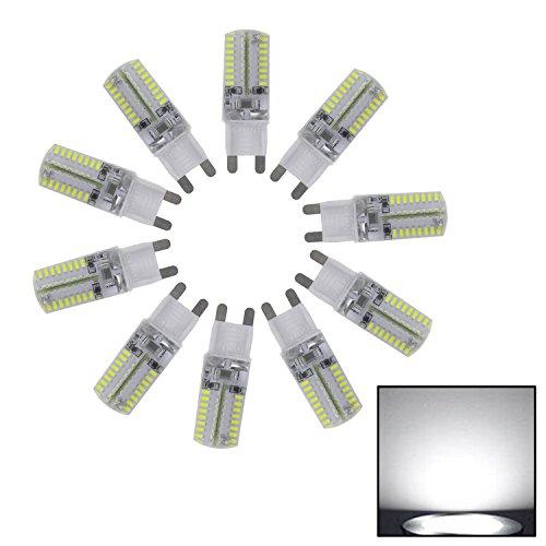 Yaho-Mall 10Pcs G9 3014 Smd 64 Led 110V Energy Saving Cool White Light Bulb Crystal Capsule Spotlight Lamps