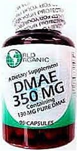 World Organics Dmae, 90 Caps , 350 Mg