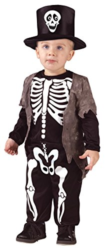 UHC Boy's Happy Skeleton Toddler Fancy Dress Outfit Kids Halloween Costume, 3T-4T (Happy Skeleton Costume)