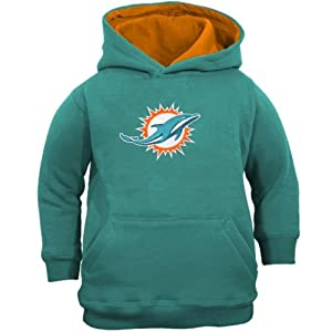 Miami Dolphins NFL Pullover Hooded Logo Sweatshirt - Aqua by NFL-Kids