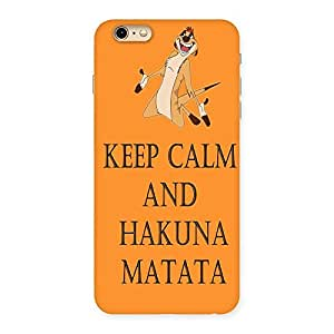 Cute HKN MTT Orange Back Case Cover for iPhone 6 Plus 6S Plus