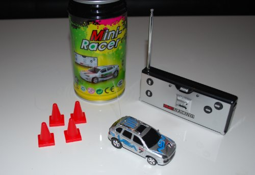 Super Pocket Racer RC car in a can - Silver Car